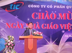 GENERAL DIRECTOR OF TIC COMPANY GAVE HIS SPEECH IN THE CEREMONY OF VIETNAMESE TEACHERS' DAY NOVEMBER 20, 2017